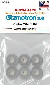 New ULTRA-LIFE White Guitar Gizmotron Wheels